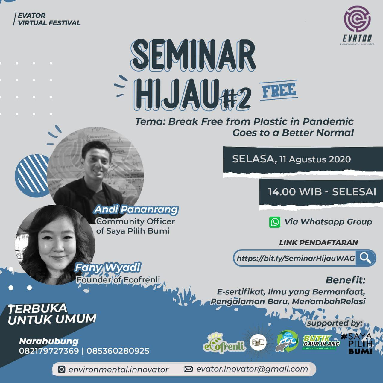 Seminar Online Nasional: Break free from plastic in pandemic goes to a better normal